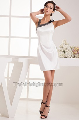 Sheath/Column White Graduation Party Homecoming Dresses