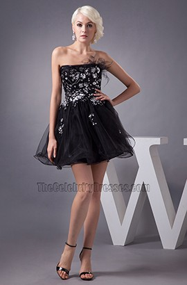 Gorgeous Short Strapless A-Line Party Little Black Dresses