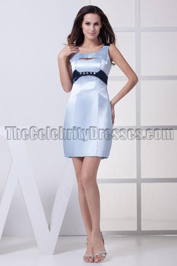 Short Mini Light Sky Blue Party Cocktail Graduation Dresses
