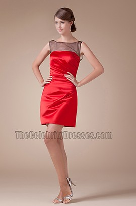 New Style Short Mini Red And Black Party Homecoming Dresses