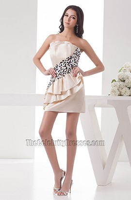 Short/Mini Sequined Strapless Party Homecoming Cocktail Dresses