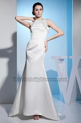 Simple Mermaid Sleeveless Sweep/Brush Train Wedding Dress