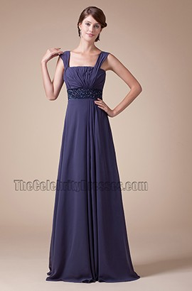 Square Neckline Chiffon Bridesmaid Prom Dresses