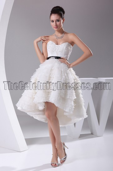 New Style A-Line High Low Cocktail Short Wedding Dresses