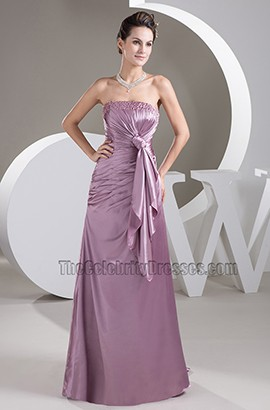 Elegant Strapless A-Line Sweep/Brush Train Formal Dress Prom Gown