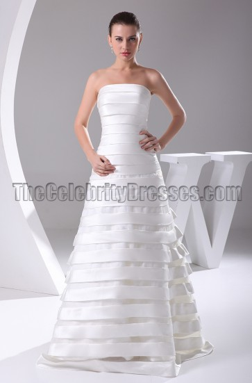 Elegant Strapless A-Line Wedding Dresses