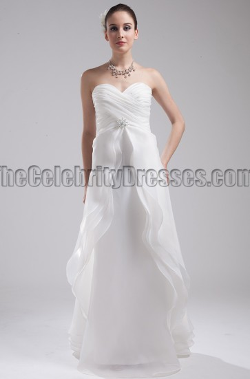 Floor Length Strapless Sweetheart A-Line Wedding Dress