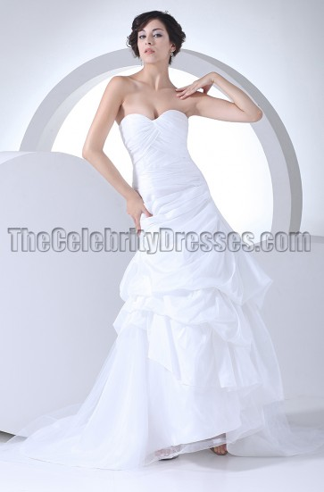 A-Line Strapless Sweetheart Wedding Dresses