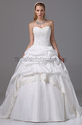Strapless Sweetheart Embroidery Ball Gown Wedding Dresses