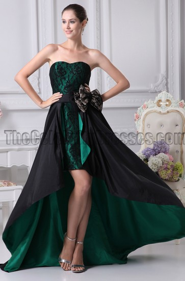 New Style Strapless High-Low Prom Gown Evening Dresses