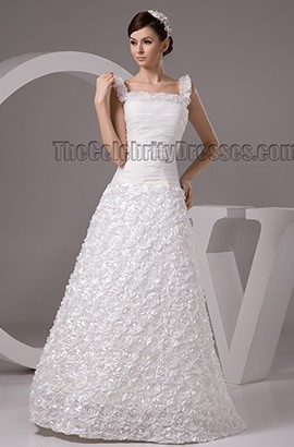 Stunning A-Line Floor Length Bridal Gown Wedding Dresses