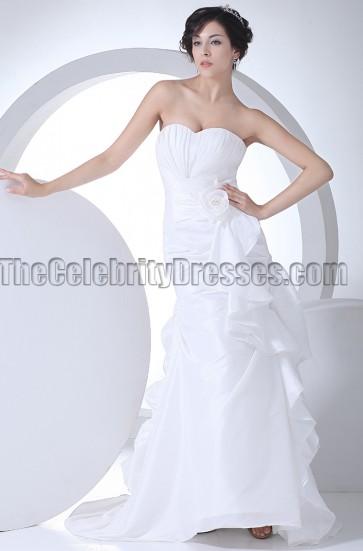 Sweetheart A-Line Chapel Train Wedding Dresses