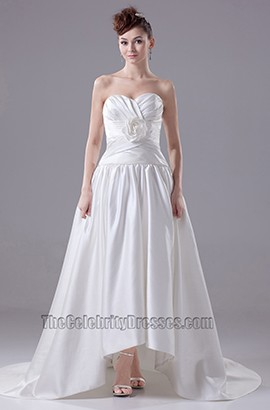 Chic Sweetheart Strapless A-Line Taffeta Wedding Dresses