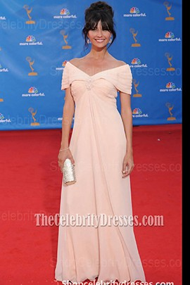 Tamara Feldman Off-the-Shoulder Prom Dress 2010 Emmy Awards