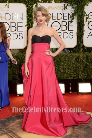 Taylor Swift Formal Dress 2014 Golden Globes Awards Red Carpet