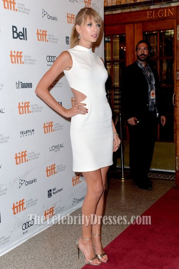 "Taylor Swift White Back Cut Out Party Dress ""One Chance"" Premiere"