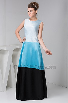 Blue And Black A-Line Formal Dress Prom Evening Gowns