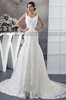 Trumpet/Mermaid Embroidered Chapel Train Wedding Dresses