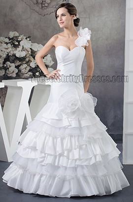 Trumpet/Mermaid One Shoulder Floor Length Wedding Dresses