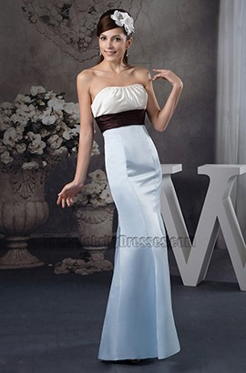 Simple Trumpet/Mermaid Strapless Floor Length Wedding Dress