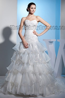 Trumpet /Mermaid Strapless Sweetheart Embroidered Wedding Dress