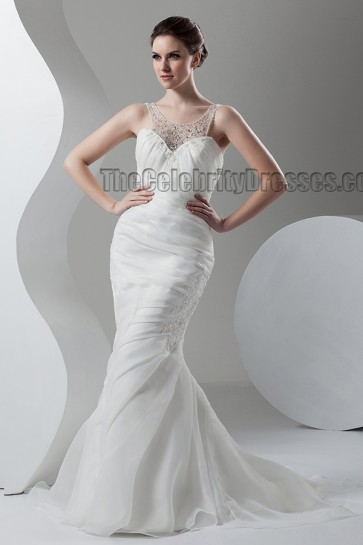 Trumpet /Mermaid Sweep/Brush Train Bridal Gown Wedding Dress