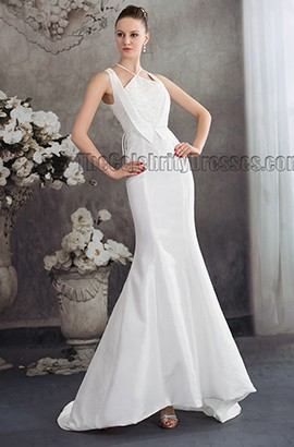 Chic Trumpet/Mermaid Sweep/Brush Train Beaded Wedding Dresses