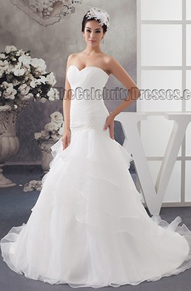 Trumpet/Mermaid Sweetheart Strapless Chapel Train Wedding Dress