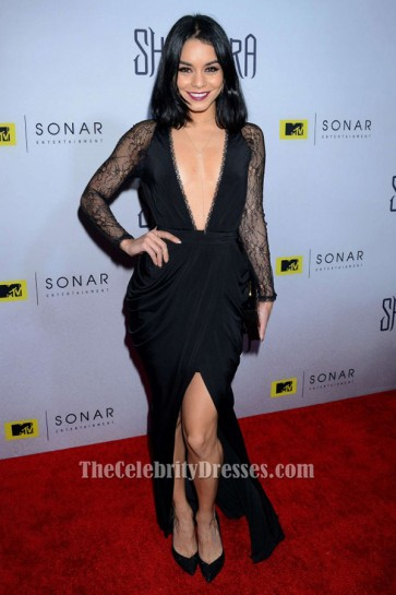 Vanessa Hudgens Long Sleeve Evening Dress 'The Shannara Chronicles' LA Premiere TCD6463