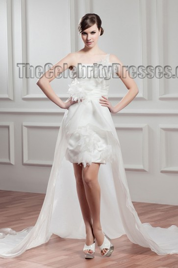 New ! Watteau Train One Shoulder Wedding Dresses