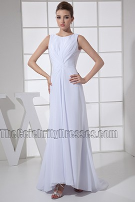 Simple White Chiffon Prom Dress Evening Formal Dresses