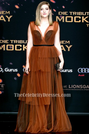 Willow Shields Tulle Evening Dress 'The Hunger Games Mockingjay – Part 2' Berlin Premiere TCD6389