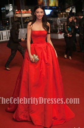 Zhang Yuqi Red Prom Dress 'Soshite Chichi Ni Naru' Cannes Film Festival Premiere