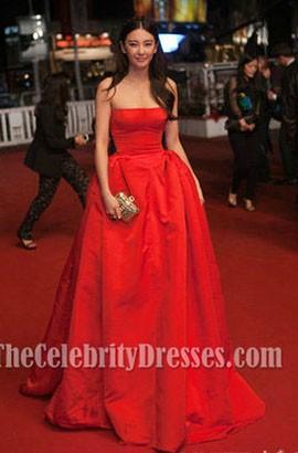 Zhang Yuqi Red Prom Dress 'Soshite Chichi Ni Naru' Cannes Film Festival Premiere