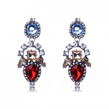 Bohemia Style Sparkling Gem Rhinestones Drop Earrings TCDE0052