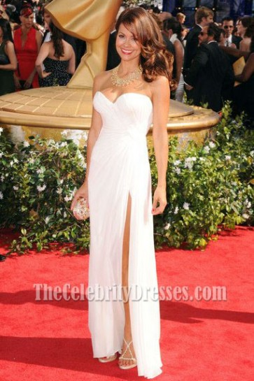 Brooke Burke White Evening Dress 62nd Emmy Awards