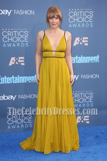 Bryce Dallas Howard Spaghetti Straps Empire Evening Prom Gown 22nd Annual Critics' Choice Awards 4