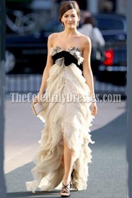 Camilla Belle Strapless Prom Dress Metropolitan Opera Premiere Gown