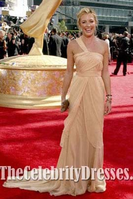 Cat Deeley Yellow One Shoulder Prom Dress 61st Emmy Awards