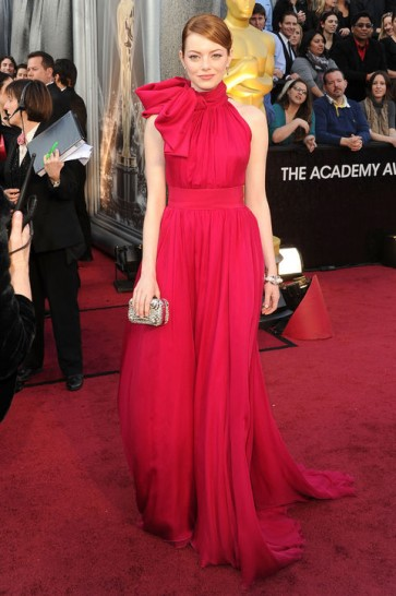 Celebrity Dresses Emma Stone Formal Dress 2012 Oscars Red Carpet