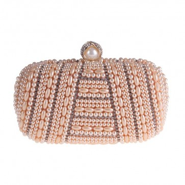Champagne Beadings Handmade Evening Clutch Bag