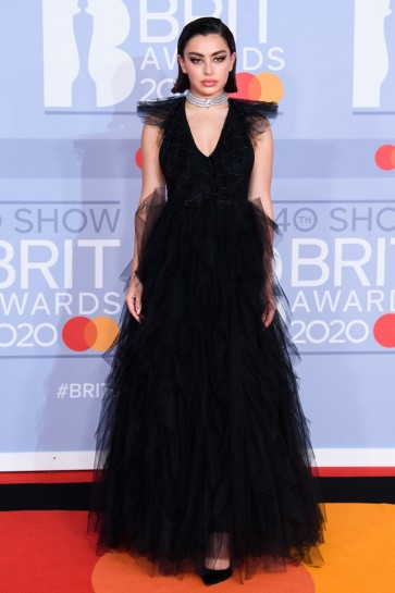 Charli XCX Black Princess Formal Gown 2020 BRIT Awards
