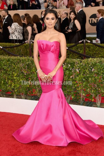 Diane Guerrero Fuchsia Formal Dress 22nd Screen Actors Guild Awards 5