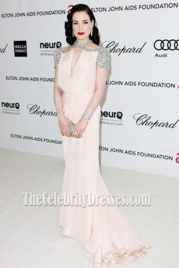 Dita Von Teese Prom Dress 20th Annual Elton John AIDS Foundation's Oscar Viewing Party