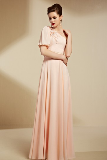 Elegant One Sleeve Floor Length Formal Dress Evening Gowns