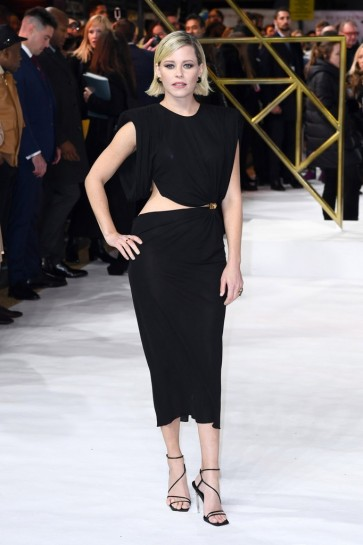 Elizabeth Banks Black Cut Out Party Dress UK premiere of 'Charlie's Angels'