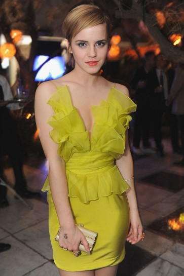 Emma Watson Short Red Carpet Dress Cocktail Celebrity Dresses 2011 MTV Movie Awards