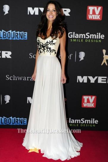 Esther Anderson Evening Dress 2012 Logies Awards Red Carpet Celebrity Dresses
