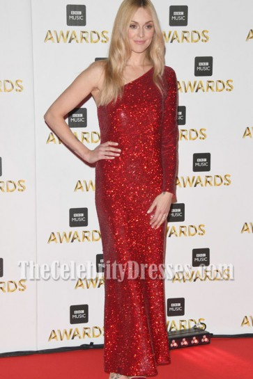 Fearne Cotton One-shoulder Sequin Evening Prom Gown BBC Music Awards 2016 4