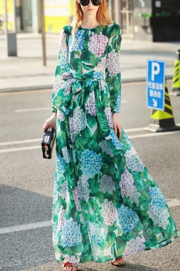 Floral Buttoned Boho Maxi Dress